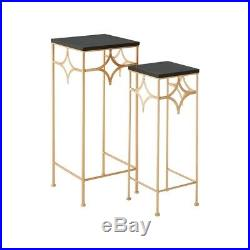 Modern Contemporary Plant Stands Set of 2 Living Room End or Lamp Table