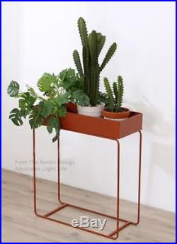Modern Loft Metal Plant Shelf/ Stand/ Minimalist Modern Side Storage Table