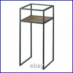 Modern glass open top display iron End side bedside Table Nightstand plant stand