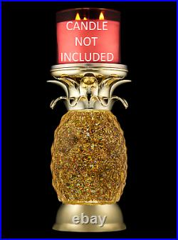 NEW! Bath Body Works PINEAPPLE WATER GLOBE PEDESTAL Candle Holder LIGHTS UP