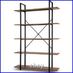 New 5 Tiers Bookshelf Plant Flower Stand Wood Grain Storage Shelf for Home EL 02