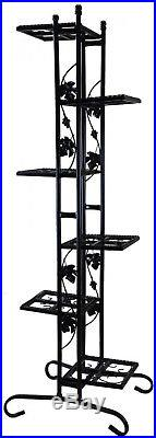 New 64.5-in Black Rectangular Wrought Iron Plant Stand Crack Fade Resistant