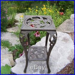 Oakland Living Hummingbird Plant Stand Antique Bronze