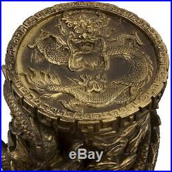 Oriental Furniture 25 Dragon Statue Pedestal