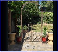 Outdoor Metal Arbor Arch Plant Stands Garden Pergola Gate Iron Trellis Gothic