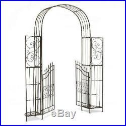 Outdoor Metal Elegant Gate Arbor Plant Stands Garden Pergola Arch Iron Trellises