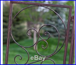Outdoor Metal Gate Arbor Plant Stands Garden Pergola Arch Iron Trellis Backyard