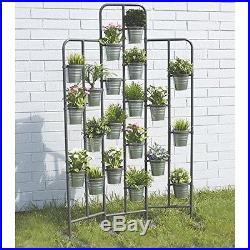 Outdoor Plant Shelf Patio Stand Metal Planter Garden Rack Pot Holder Tiered New