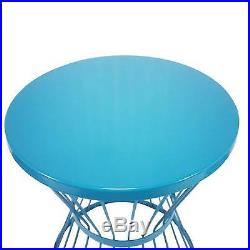 Outdoor Round Steel Plant Stand Side Table Stool Flower Standing Garden Décor