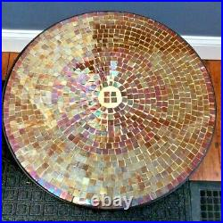 PAIR Glass Mosaic Accent Folding Table 14.5 x 21.5 Side End Table Plant Stand