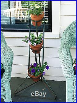 Pair Antique French Metal Potted Plant Stands, Ca 1910