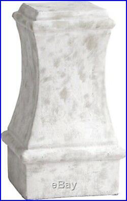 Pedestal Plant Stand Cyan Design Dexter Small Sandstone Cement Brass New