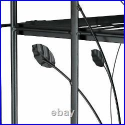 Pflanzenregal Metall GOTH 5-stufig mit Verzierung klappbar Blumenregal schwarz