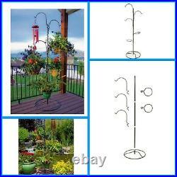 Plant Hanging Basket Tree Planter Stand Flower Pot Holder Indoor Outdoor Garden