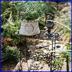Plant Stand 22.6 1 Tier Metal Stands Cast Iron Potted Plant Stand Garden Table