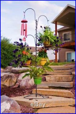Plant Stand Hanging Holder Baskets Patio Outdoor Flower Decor Garden