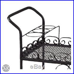 Plant Stand Stands For Multiple Plants Flower Cart On Wheels Indoor Outdoor Blac