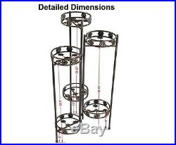Plant Stands for Multiple Plants Bronze with Shelves Indoor Outdoor 6 Tiered