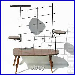 Rare 1950s Indoor Plant Stand Table String Shelf Mid-Century Modern Vintage