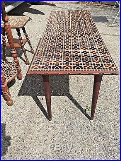 Rare Hearts Vintage Arts & Crafts Coffee Tile End Table Lamp Plant Stand Butler