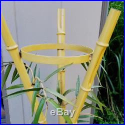 Rare Vintage Faux Bamboo Italian Tole Regency Plant Stand Italy Toleware