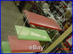 Rare Vintage Retro MID Century Modern MCM 5-tier Metal Plant Stand Shelf Cart