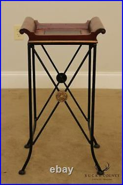Regency Style X Iron Base Plant Stand Side Table