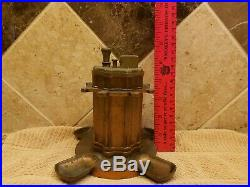 Ronson Touch Tip Lighter Art Metal Works 4 Pipe Holder Stand Brass Bronze