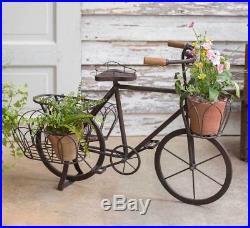 Rustic Bicycle Multi-pot Metal Planter
