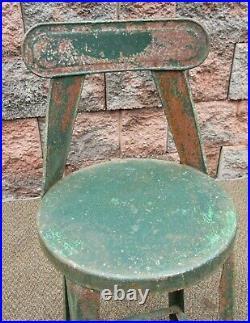 SWEETHEART Vintage Metal Diminutive Stool Chair Garden Porch Plant Decor