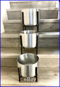 Stand Set Of 3 Large Plant Pots