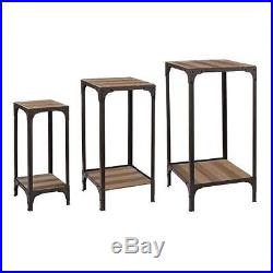 Sterling Industries 138-146/S3 Plant Stands with Bottom Shelf Set of Three