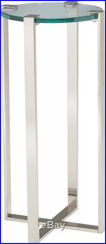 Sterling Uptown Contemporary Metal Frame Plant Stand with Glass Top, 36-Inch