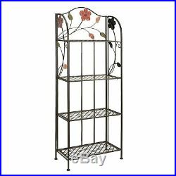 Studio 350 Metal Bakers Rack 68 inches high, 25 inches wide, 12 inches D