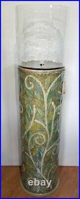 Stunning Indian Artisian Handmade DECO Plant Stand Pedestal Vase, NEW