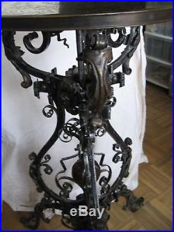 Stunning Theodore Alexander All Metal Plant Stand/table