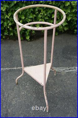 Stunning True Vintage MCM Midcentury Pink Steel Vtg Plant Stand Garden Shelf