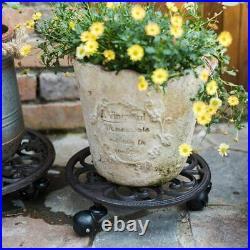 Sungmor Heavy Duty Cast Iron Potted Plant Stand Flower Pot Holder Planter Rack