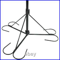 Sunnydaze 4-Arm Hanging Flower Plant Basket Stand with Adjustable Arms 84 Tall