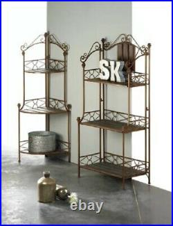 Tall Corner Shelf Cookbook Stand Kitchen Modern Plant Large Tier Potted Wall