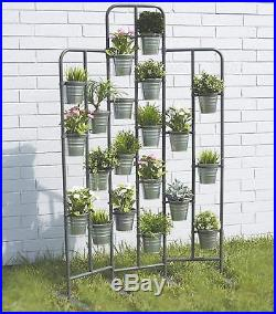 Tall Metal Plant Planter Stand 20 Tiers Display Plants Indoor or Outdoors on a B