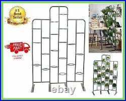 Tall Metal Planter Stand 20 Tier Display Indoor Outdoor Balcony Patio Garden NEW