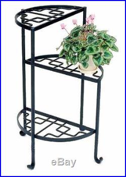 Three Step Wrought Iron Plant Stand ID 3194