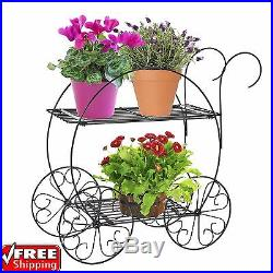 Tiered Plant Stand Indoor Outdoor Garden Yard Porch Deck 2 Tier Rust Resistant