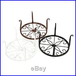 Tosnail Olde Metal / Iron Art Plant Stands Pot Holder, 9, Pack of 3 Colors, Whi