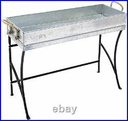 Trestle Small Metal windowsill Plant Stand, Mini 18-in, Black New