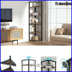 Tribesigns 5Tier Corner Shelf Display Plant Stand Rack Bookshelf for Living Room