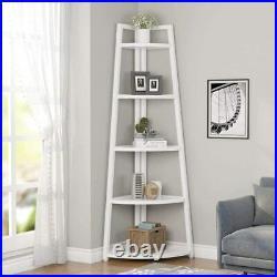 Tribesigns 5-Tier Plant Stand 70 Tall Corner Shelf, Rustic Corner Bookshelf US