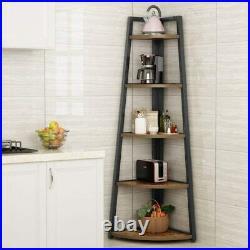 Tribesigns 70 inch Tall Corner Shelf, 5 Tier Ladder Shelf Plant Stand Bookshelf