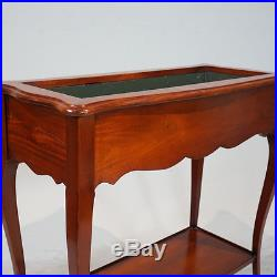 Unique Louis style Plant Stand Hall Table Mahogany Wood with Metal insert